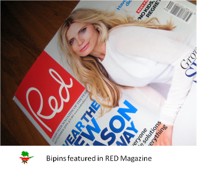 Bipins Masala Fresh Curry paste featured in RED magazine Bipins curry recipes
