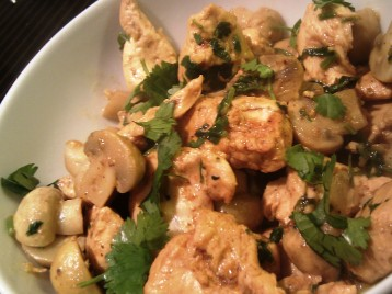 Naga chicken and mushroom curry healthy bipins curry recipe