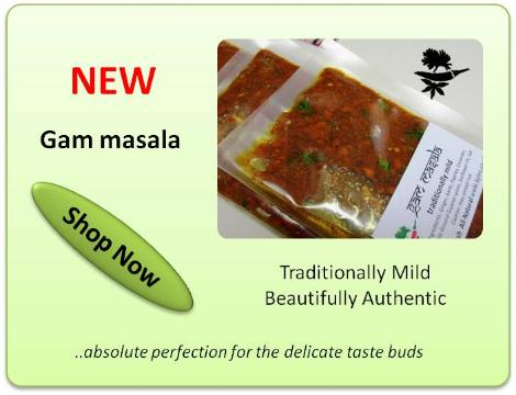 Bipins mild Chilli-free curry paste fresh Gam masala