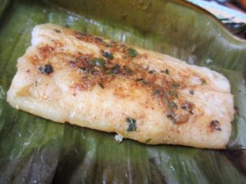 methi masala chargrilled fish banana leaf parcel curry recipe