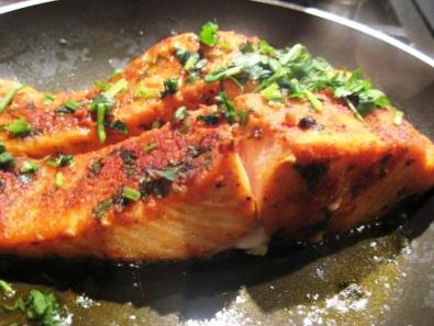 Bipin's Salmon Surti Curry Paste Pan Fried fish curry recipe